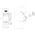 Prensa hidráulica de columna simple 2.5T tipo C