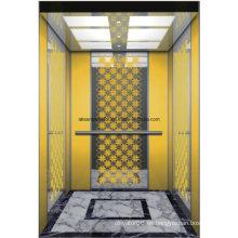 Elevador de pasajeros Ascensor Home Elevator Mirror Etching Hl-X-045