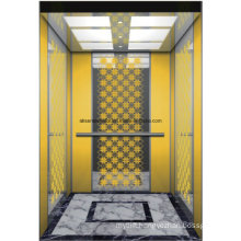 Passenger Elevator Lift Home Elevator Mirror Etching Hl-X-045