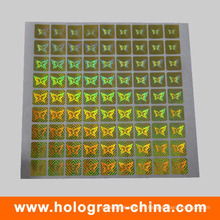 Gold Security Hologram Label Sticker