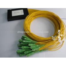 Divisor do PLC da fibra 1x32, comprimento do pigtail 1.5m G.657A Fibra, 0.9mm, 2.0mm, 3.0mm com pacote plástico da caixa do ABS