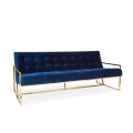 Gold stainless steel hotel relax sofa chair