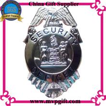 Металлический значок полиции с 3D гравировкой логотипа