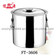 0.8mm Stainless Steel Soup Barrel with Activities Handle (FT-3606)