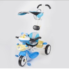 Overstriking Push Rod Children Tricycle with Sunshade
