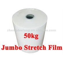 Paleta de plástico de 50 kg envolviendo la película de estiramiento Jumbo