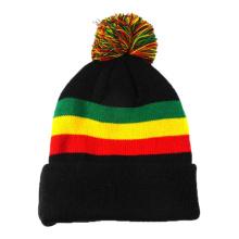 Chapeau d'hiver femme tricoté noir