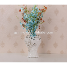 China high quality hot selling china flower pottery ceramic flower vase home decor flower vase