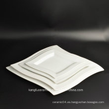 Resistente al calor 4PCS Set Porcelain Dinner Plate