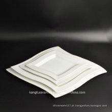 4PCS resistente ao calor definir placa de jantar de porcelana