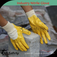 SRSAFETY light duty glove yellow ntirile glove construction