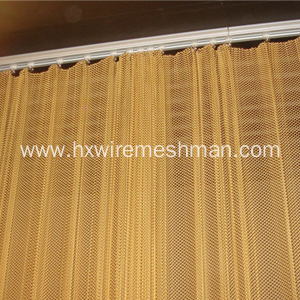 Decorative metal room divider curtains