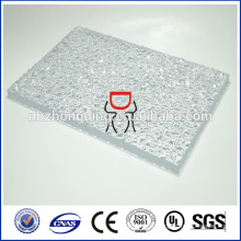 матовый текстурированный поликарбонат лист/выбитая текстурированный поликарбонат