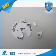 Etiqueta adhesiva permanente de la alta calidad, etiquetas destructivas de la etiqueta de la seguridad del vinilo, etiqueta engomada de la pintada de la cáscara de huevo