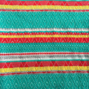 Striped Jacquard lace fabric