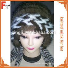 Sombrero de piel de visón de calidad superior piel real