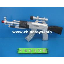 Nova arma de brinquedo de plástico bateria operado flash com música (749.109)