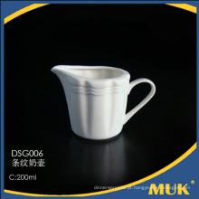 Frasco do leite branco puro da porcelana de osso do tamanho diferente 200ml