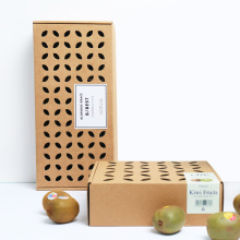 Brown Kraft Fruit Hollow Out caja de embalaje