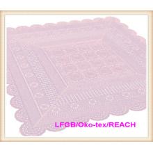 Nappe de dentelle de crochet de couleur de vinyle de PVC nouveaux modèles
