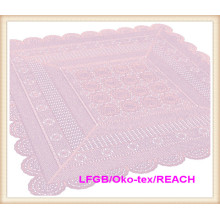 PVC Vinyl Color Crochet Lace Tablecloth New Designs