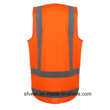Hot Fashion High Visibility Workwear Reflective Safety Vest with ID Pocket