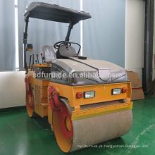 Compactador vibratório de rolo compactador vibratório de cilindro duplo de 3 toneladas (FYL-1090)