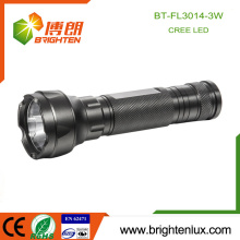 Factory Custom Made 3*AAA Battery Operated Aluminum Long Beam Distance Hand Held Q3/Q5 Cree Bright led Flashlight
