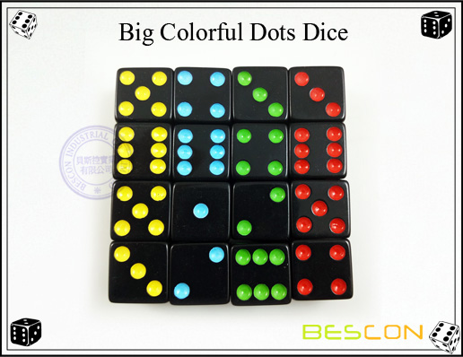 Big Colorful Dots Dice