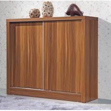 Amplo armário de sapato de porta deslizante de madeira (HHSR05T)