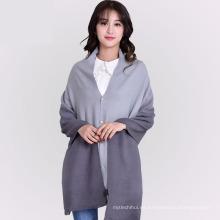 2017 venta caliente del color del gradiente del todo fósforo de la señora de invierno largo 100 bufanda de poliéster chal falsas bufandas de cachemira para las mujeres