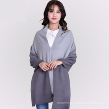2017 vente Chaude gradient couleur tout-match dame hiver long 100 polyester écharpe châle faux cachemire écharpes pour femmes