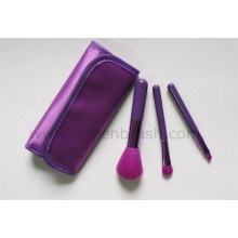 High Quality 3PCS Makeup Brush Set with Cloth Bag