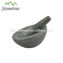 Mortier avant et pilon en pierre naturelle de 16,5 * 10cm