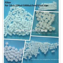 medizinische Verbrauchsartikel 10ml Pipettenspitzenfilter