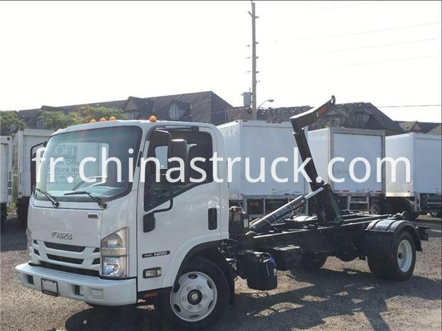 Isuzu Nrr Hook Lift Roll Off Garbage Truck