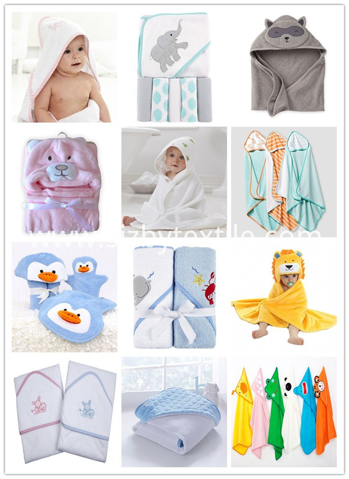 Costom Design Baby Hooded Towel
