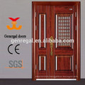 Anti theft top security entrance exterior double leaf security door