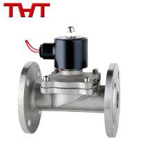 Válvula electromagnética del regulador del gas del aire del reborde del agua de 12v 24v dc ac 100m m