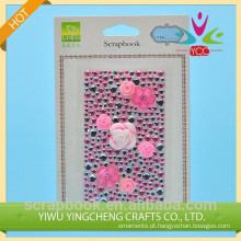 alta qualidade etiqueta rosa bonita pedra acrílica