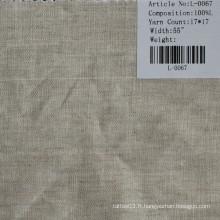 Le tissu de lin pur L-0067
