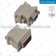 Convertidor de DVI-D MALE DVI a VGA ADAPTADOR PARA HDTV LCD PC