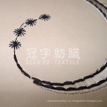 Tela de imitación cuero de cuero del bordado para textiles para el hogar