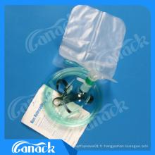 Masque d'oxygène avec réservoir Bagen