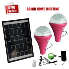Solar portátil led lâmpada sistema inteligente com lâmpada led para iluminação de emergência