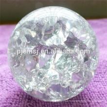 Boule en verre de cristal de glace de glace pure, boule en cristal claire de K9