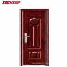 TPS-048 Chine porte d'entrée simple en acier pas cher porte extérieure