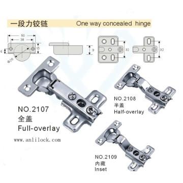 One Way Concealed Hinges, Desk Hinges, Door Hinge (AL-2107, 2108, 2109)