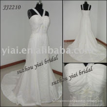 2011 Real Manufacture Chiffon Wedding dress JJ2210