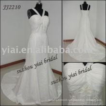 2011 Реальное изготовление шифон свадебное платье JJ2210